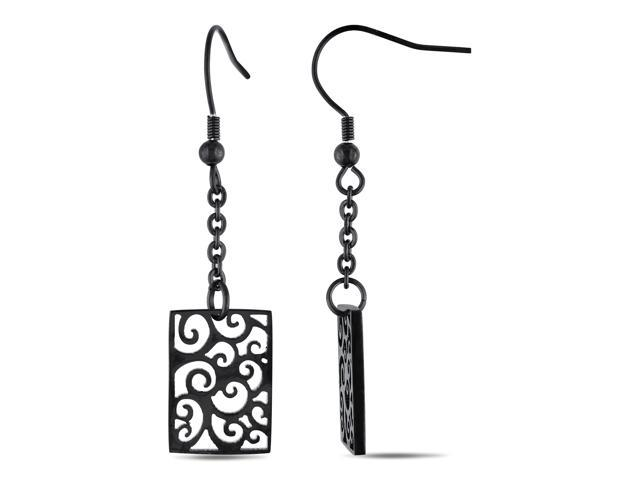 Stainless Steel with Complete Black Rhodium Plating Earring