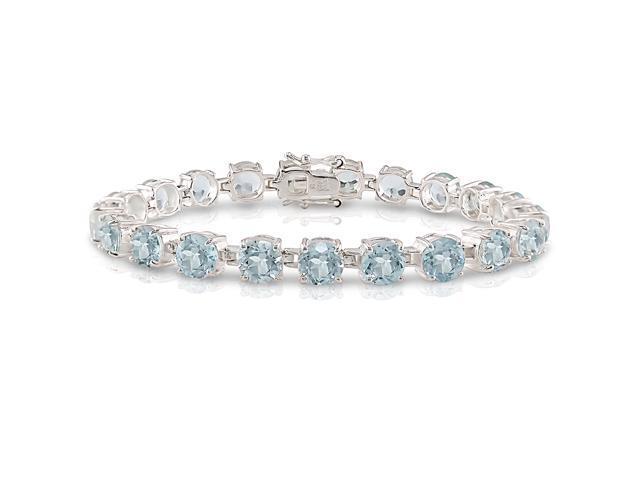 Sterling Silver 33.6ct TGW Blue Topaz Bracelet