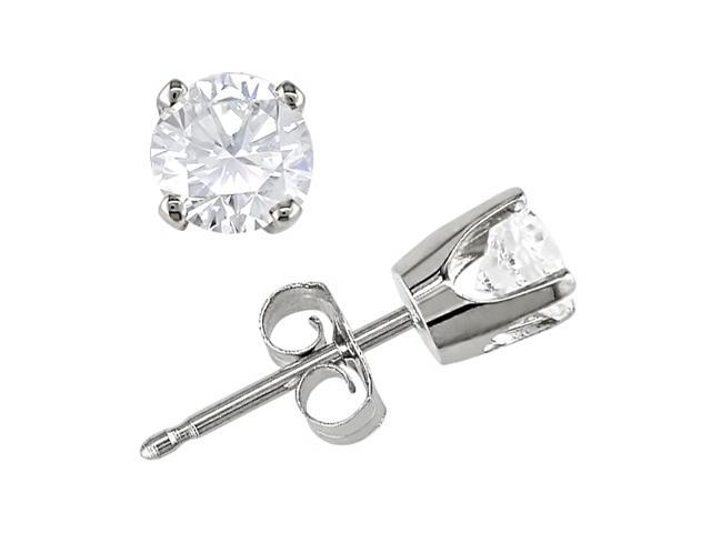 14K White Gold 3/4 ctw Diamond (G-H-I,I1-I2) Earrings