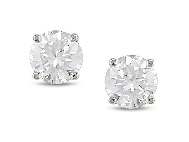 14k Gold 1/4ct TDW Diamond Solitaire Earrings