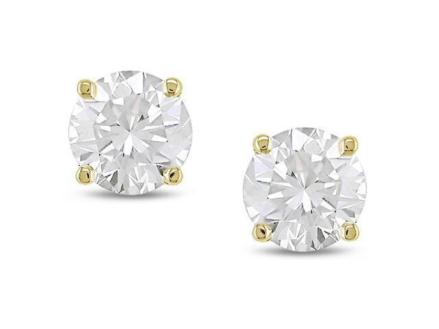 14k Gold 1/3ct TDW Diamond Solitaire Earrings