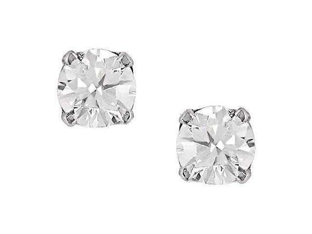 14K White Gold 3/8ct TDW Diamond Stud Earrings
