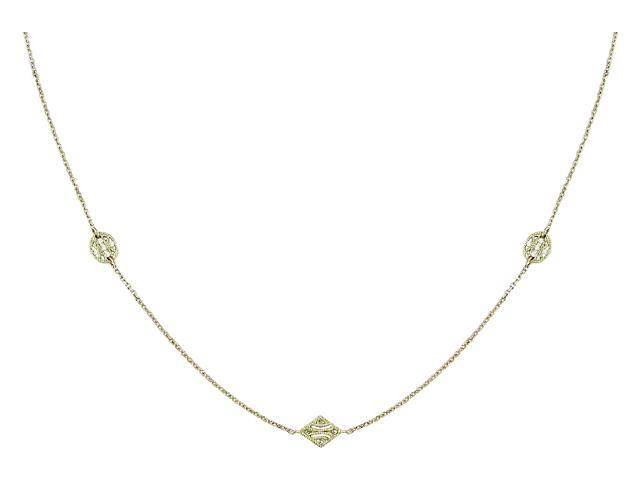 14K 1/3ct TDW Diamond Cut Cable Chain Necklace