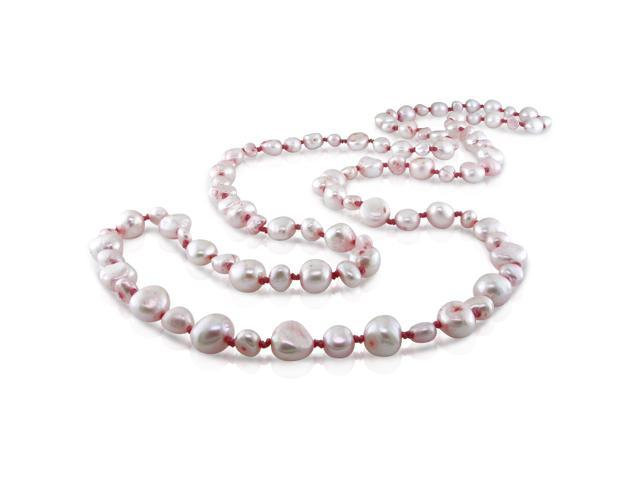 "36"" endless pink pearl necklace. (5-9mm)"
