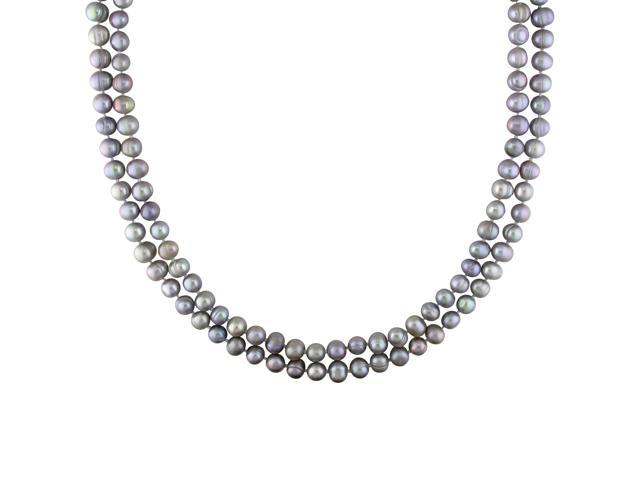 7-8mm Grey FW Pearl Endless Necklace, 64