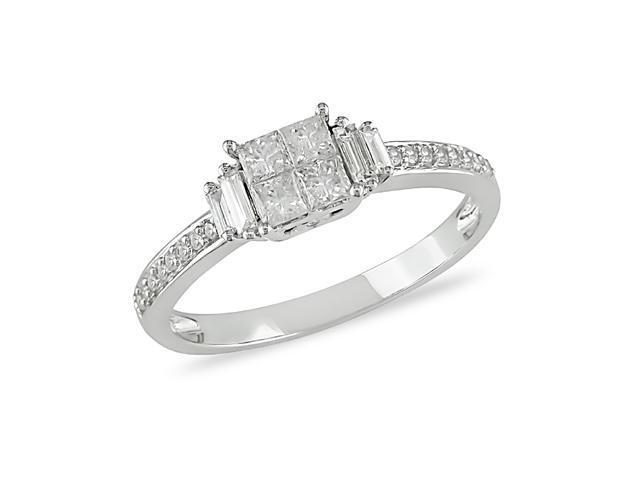 1/2 ct.t.w. Diamond Ring in 10k White Gold, I2-I3, G-H-I