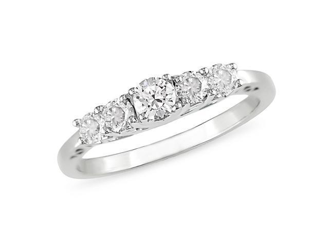 1/2 ct.t.w. Diamond Anniversary Ring in 10k White Gold