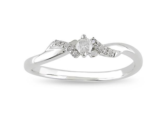 10k Gold 1/10ct TDW Diamond Engagement Ring (H-I, I2-I3)