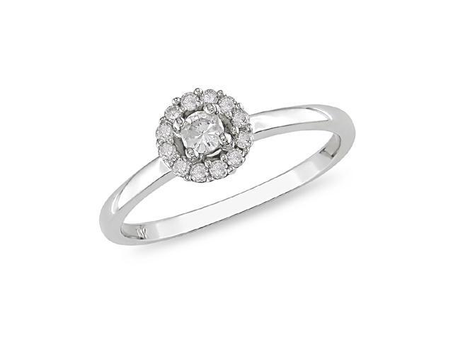 1/4 ct.t.w. Diamond Ring in 10k White Gold, I2-I3, G-H-I