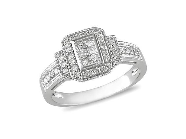 14K White Gold 1/3 Carat Diamond Engagement Ring