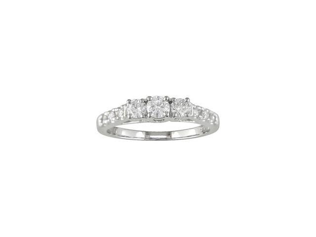 14K White Gold 1/2 ctw Diamond Ring