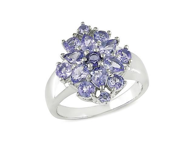 2 ct.t.w. Tanzanite Ring in Silver