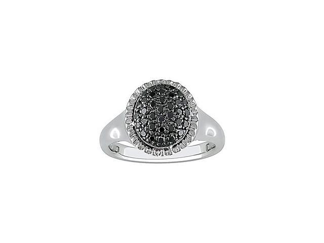 1/3 Carat Black Diamond Ring w/ Sterling Silver and Black Rhodium