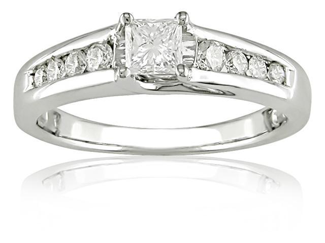 14k Gold 1/2ct TDW IGL Certified Engagement Ring (H-I, I1)