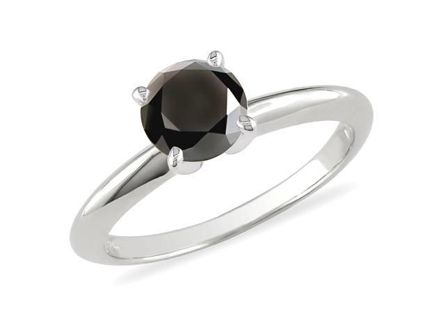 1 ct.t.w. Black Diamond Ring in 10k White Gold