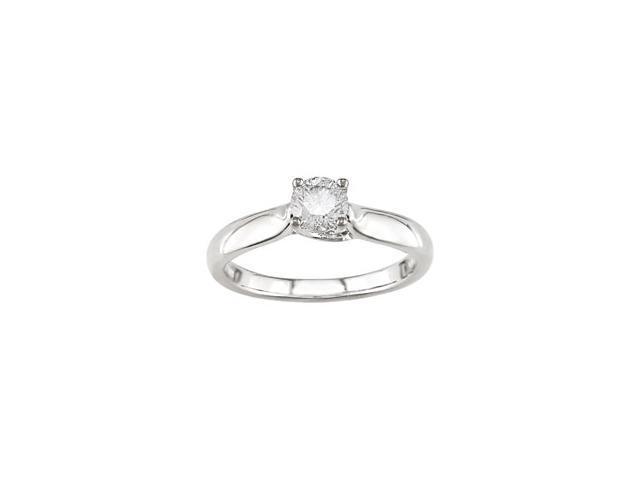 14k White Gold 1/2ct Diamond Solitaire Ring (G-H, I1-I2)