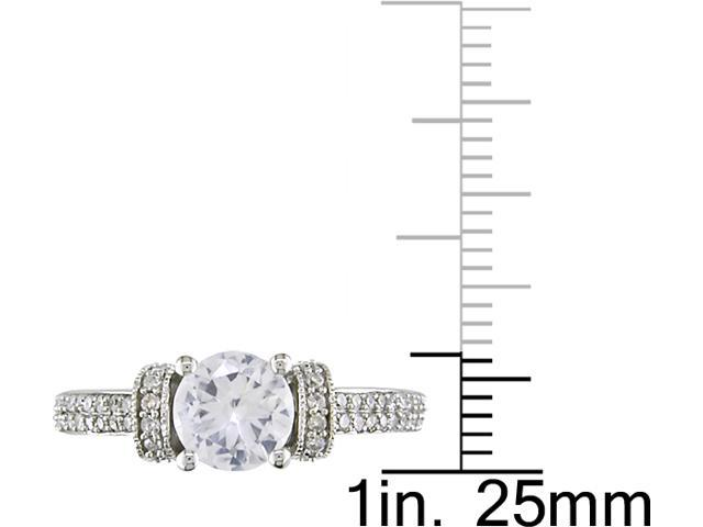 10k Gold Sapphire and .47ct TDW Engagement Ring