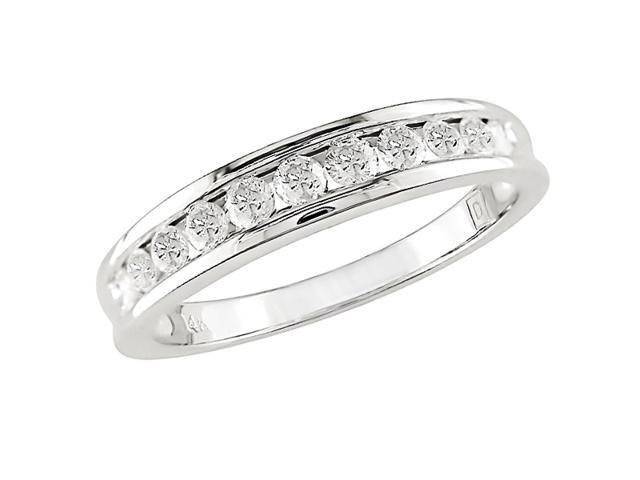 10K White Gold 1/2 Carat Diamond Semi-Eternity Ring