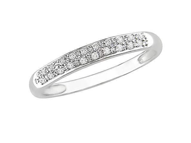 10K White Gold 1/10 Carat Diamond Ring
