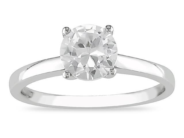 10K Gold 1-1/3ct TGW Created White Sapphire Ring