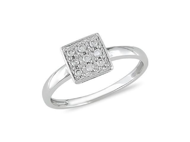 1/5 ct.t.w. Diamond Ring in 10k White Gold, I2-I3