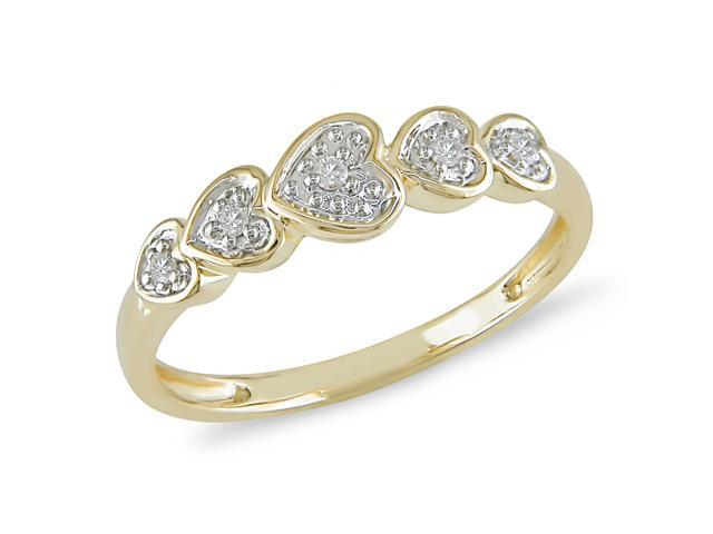 Diamond Accent Ring in 10k Yellow Gold, I2-I3, G-H-I