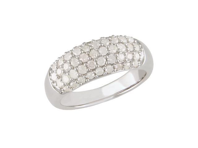 1 ct.t.w. Diamond Ring in Silver, I3-I4, H-I-J