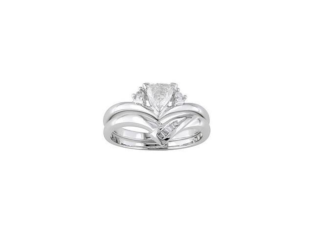 14K White Gold 1/3 ctw Diamond Wedding Ring Set