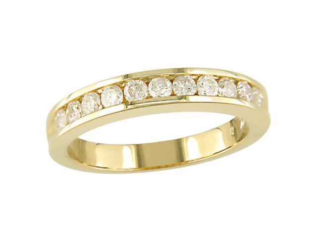 14K Yellow Gold 1/2 ctw Diamond Semi-Eternity Band