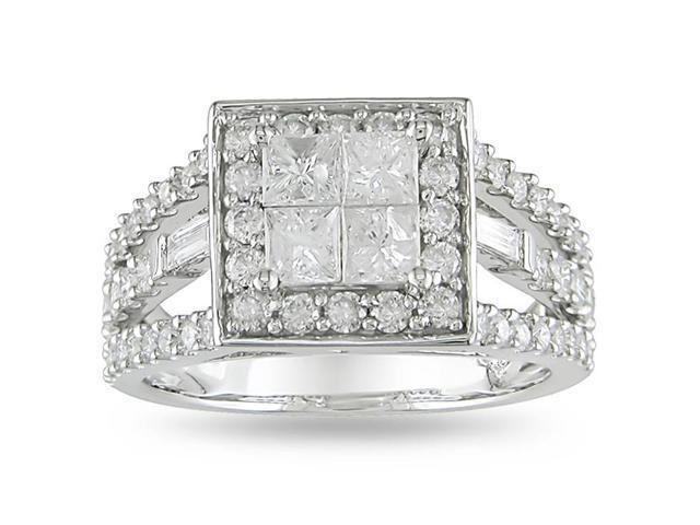 14k White Gold 1 1/2ct TDW Diamond Engagement Ring (H-I, I2-I3)