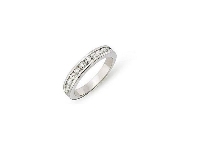14K White Gold 1/2 ctw Diamond Semi-Eternity Ring