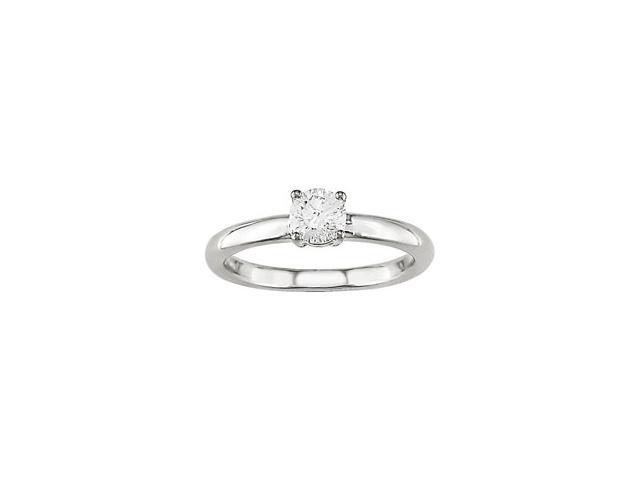 14k Gold 1/4 ct TDW Round Solitaire Diamond Ring (H-J, I1-I2)