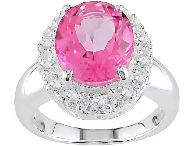Pink Topaz Sterling Silver Ring
