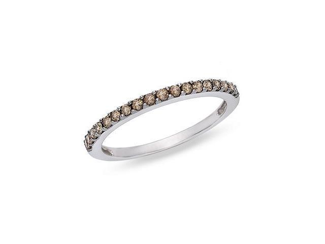 10K white gold 1/4ctw brown diamond ring