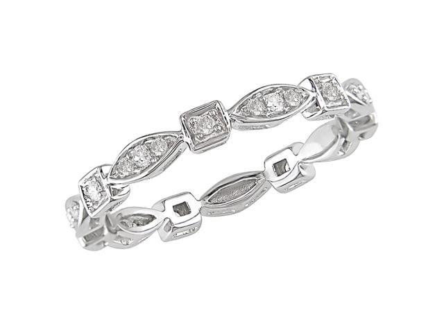 10K White Gold 1/5 Carat Diamond Eternity Ring