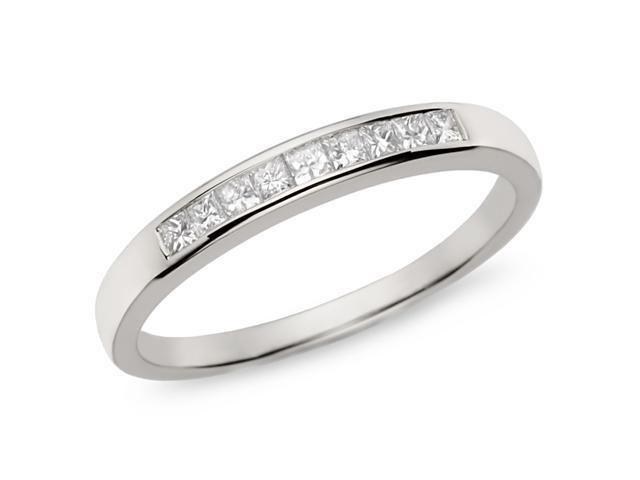 1/4 ct.t.w. Diamond Eternity Ring in 10k White Gold, I2-I3, G-H-I