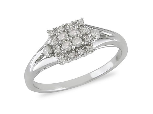 1/4 ct.t.w. Diamond Ring in 10k White Gold, I2-I3
