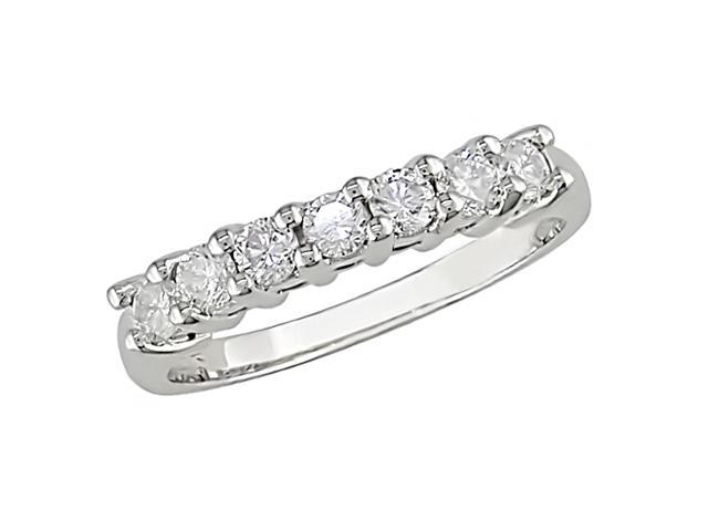 10K White Gold 1/2 Carat Diamond Semi-Eternity Ring