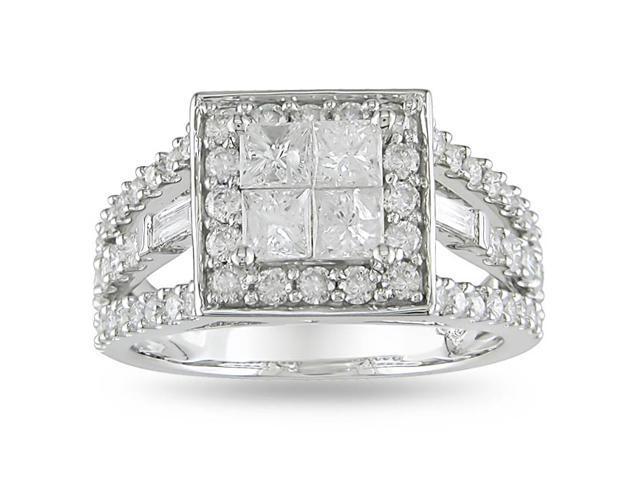 14k White Gold 1 1/2ct TDW Diamond Engagement Ring (H-I, I2-I3)