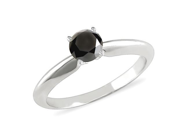 1/2 ct.t.w. Black Diamond Ring in 10k White Gold