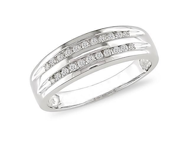 10K White Gold 1/5ctw Diamond Ring