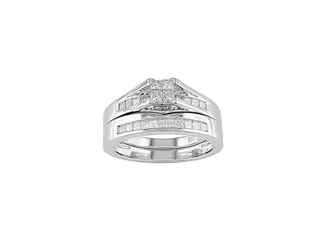 14k White Gold 1/2ct TDW Diamond Bridal Rings Set (HI, I1)