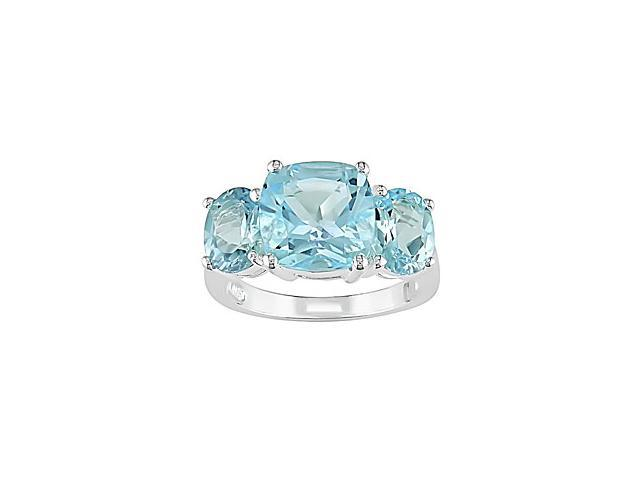 Sterling Silver Sky Blue Topaz Ring