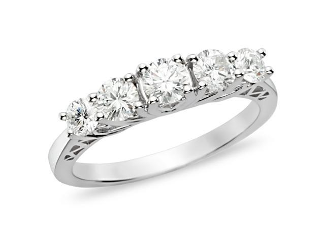 1 ct.t.w. Diamond Anniversary Ring in 10k White Gold