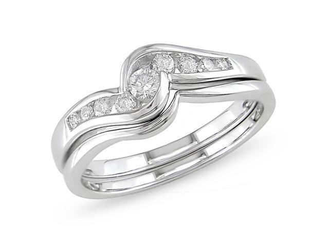14k Gold 1/4ct TDW Diamond Bridal Ring Set