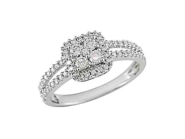 14K White Gold 1/2 Carat Diamond Ring (H-I-J,I1-I2)