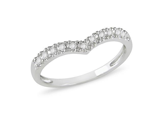 1/6 ct.t.w. Diamond Eternity Ring in 10k White Gold, I2-I3, G-H-I