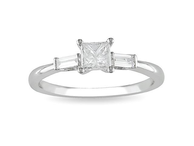 14k White Gold 1/2ct TDW Diamond Engagement Ring (H-I, I2-I3)