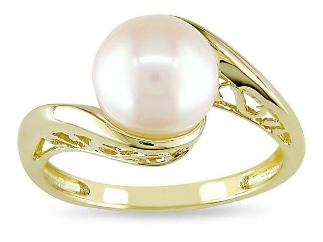 10k Yellow Gold Cultured Freshwater Pearl Ring