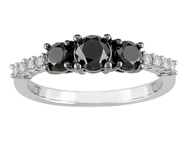 10k Gold 1ct TDW Black and White Diamond Ring (G-H-I, I2-I3)
